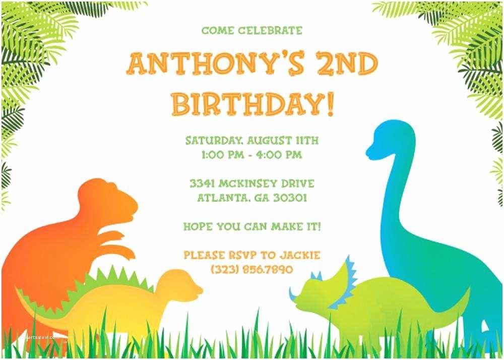 Birthday Party Invitations Online 17 Dinosaur Birthday Invitations How to Sample Templates