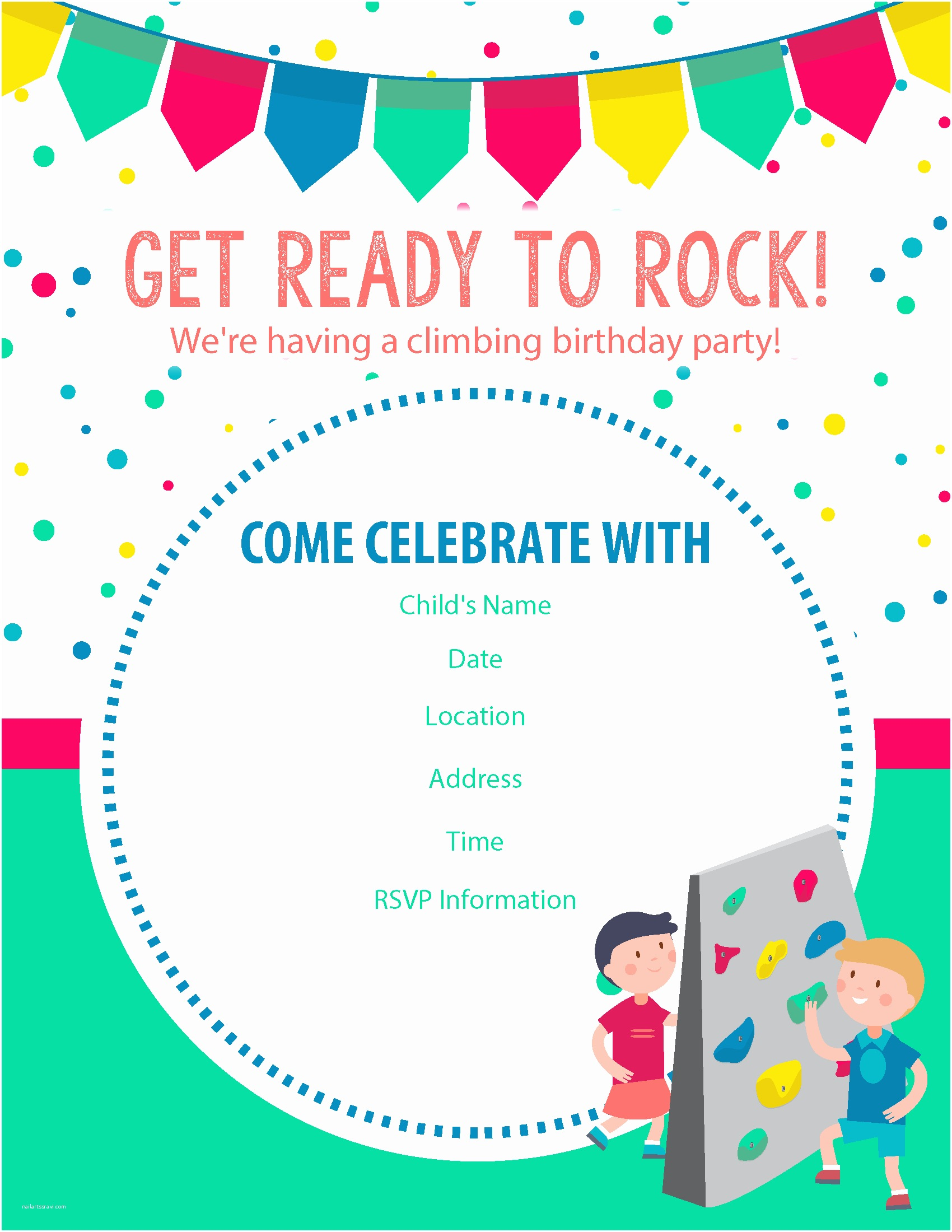 Birthday Party Invitations Online Happy Free Rock Climbing