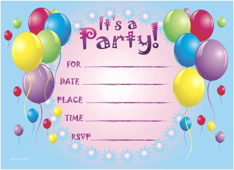 Birthday Party Invitations Printable Birthday Party Invitations for Kids