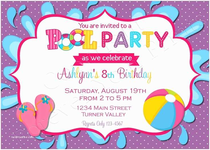 Birthday Pool Party Invitations 35 Best Images About Bday Party at the Pool On Pinterest