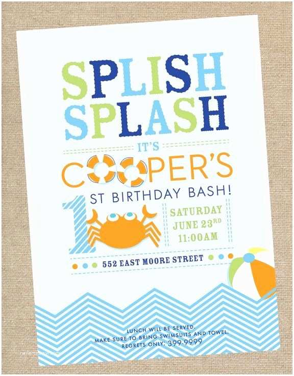 Birthday Pool Party Invitations Best 25 Swim Party Invitations Ideas On Pinterest