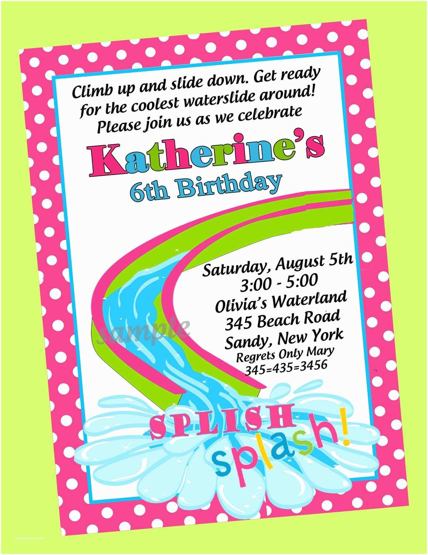 Birthday Pool Party Invitations Birthday Pool Party Invitations Template