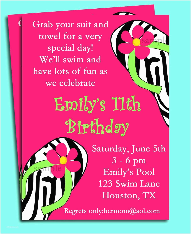 Birthday Pool Party Invitations Pool Party Birthday Invitation Wording