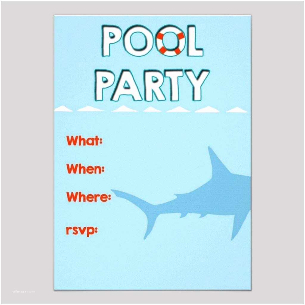 Birthday Pool Party Invitations Pool Party Invitation Template – Gangcraft