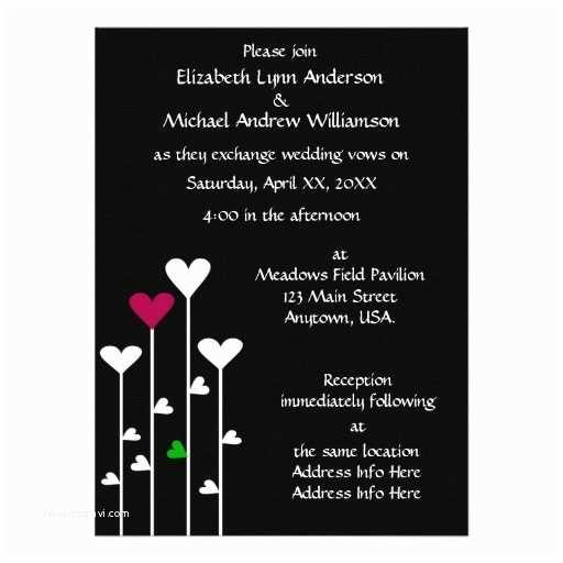 Black and Burgundy Wedding Invitations Black White Burgundy Heart Flowers Casual Wedding 5 5x7 5