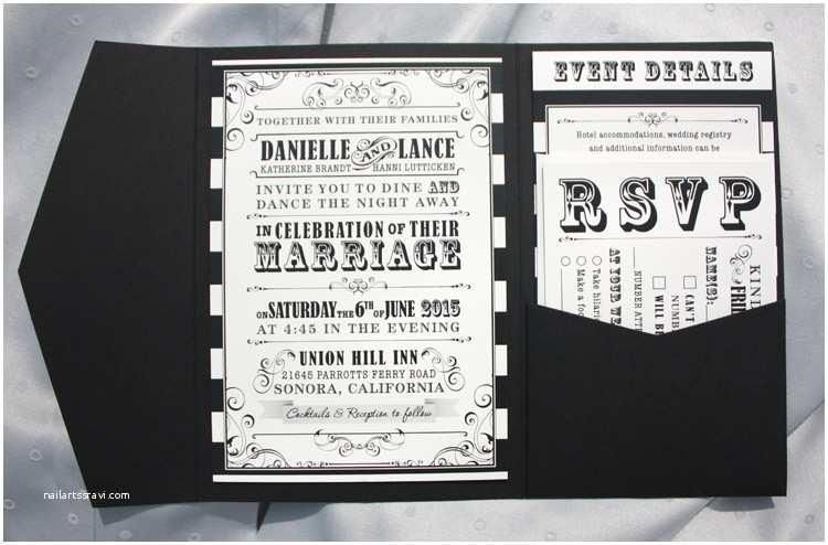 Black and Cream Wedding Invitations Black & Cream Horizontal Stripes Vintage Steampunk Poster