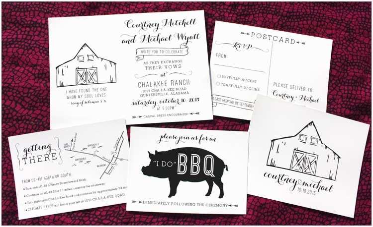 Black and Cream Wedding Invitations Black & Cream Rustic Barn & Bbq Shabby Chic Wedding