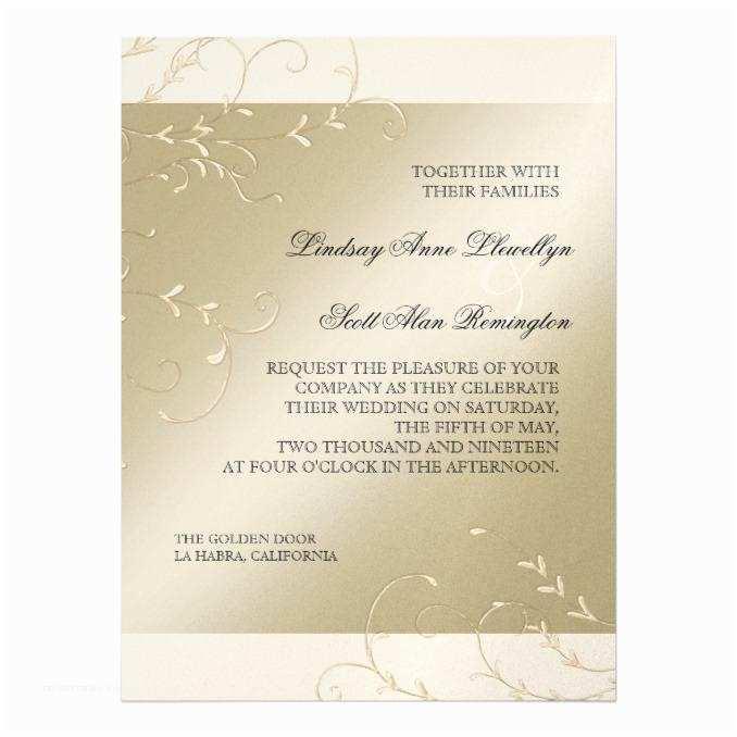 Black and Cream Wedding Invitations Black Tie Elegance Champagne Cream Wedding Wedding