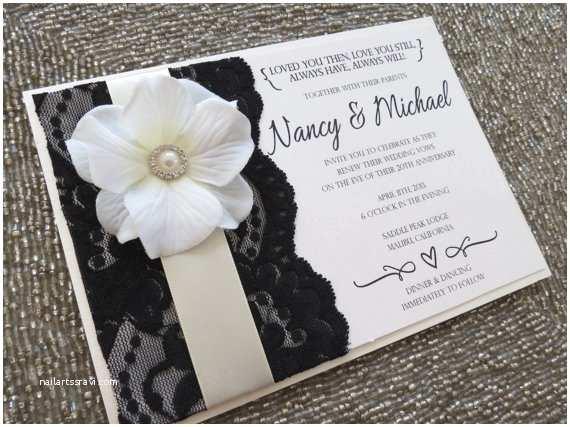 Black and Cream Wedding Invitations Blanca Black Ivory and Cream Lace Wedding Invitation