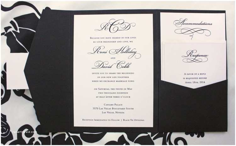Black and Cream Wedding Invitations Classic Archives Page 3 Of 12 Emdotzee Designs