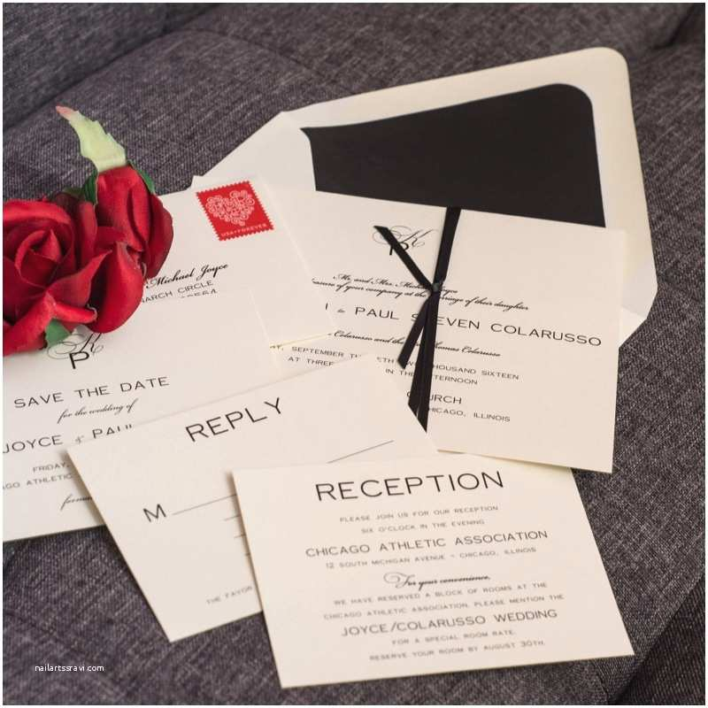 Black and Cream Wedding Invitations Classic Cream and Black Wedding Invitations