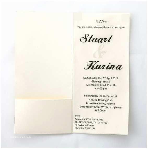 Black and Cream Wedding Invitations Cream Invites with Black Ribbon
