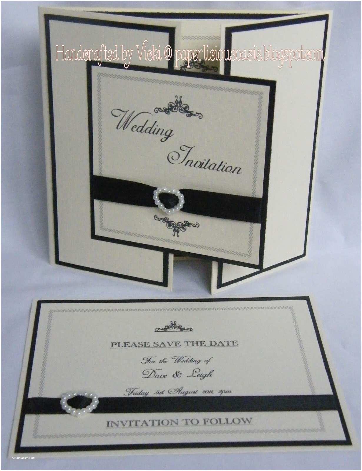 Black and Cream Wedding Invitations Paperlicious Oasis Wedding Invitations