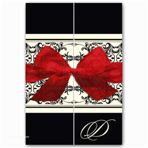 Black and Red Wedding Invitations Elegant Overlay Black Red Gatefold Wedding Invitations
