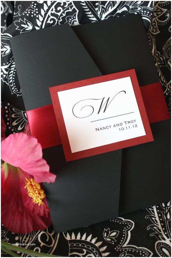 Black and Red Wedding Invitations Elegant Red Wedding Invitations