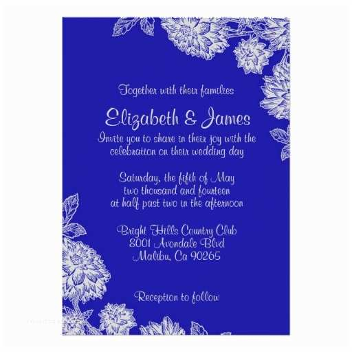 Black and Royal Blue Wedding Invitations Elegant Royal Blue Wedding Invitations