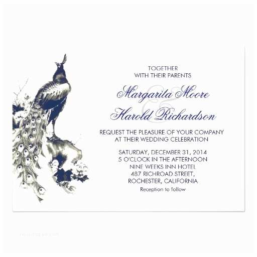 Black and Royal Blue Wedding Invitations Royal Blue and Black Peacock White Wedding Invites