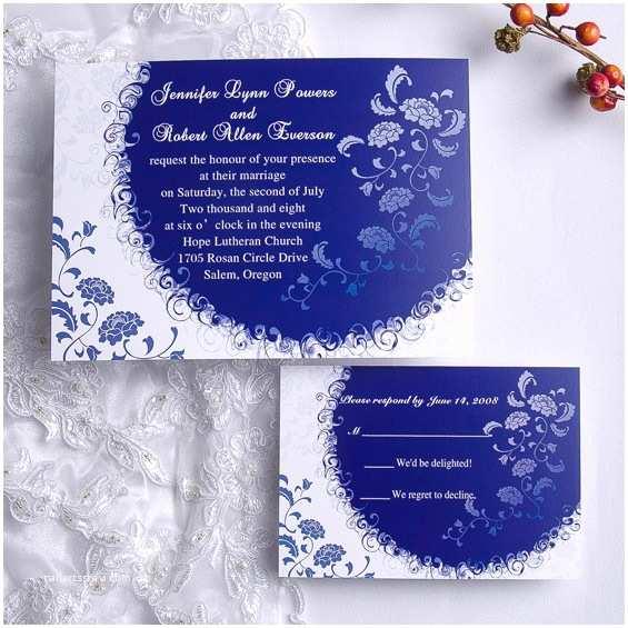 Black and Royal Blue Wedding Invitations Royal Blue Wedding Invitations Template