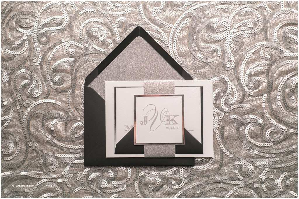 Black and Silver Wedding Invitations Black Tie Wedding Beautiful Our Gabrielle Suite Wedding
