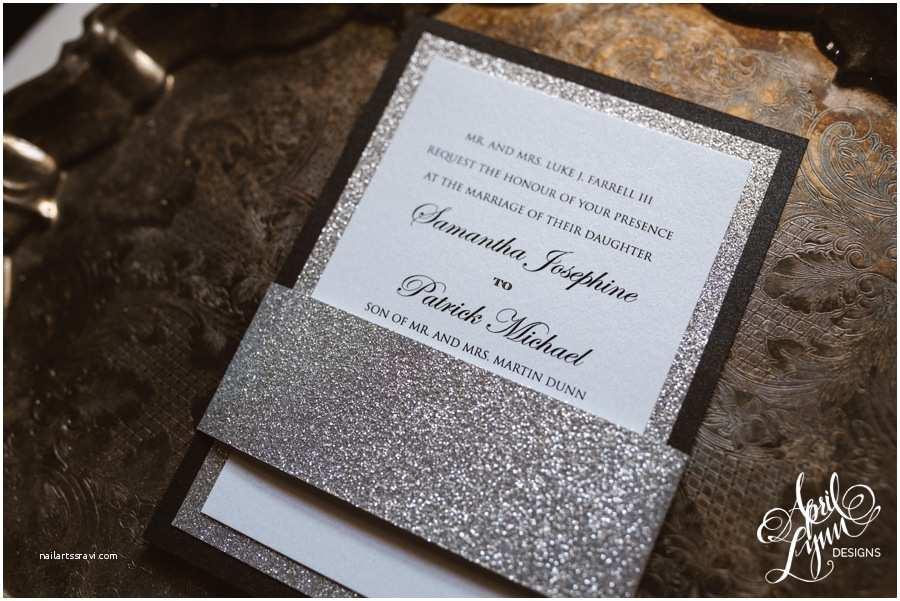 Black and Silver Wedding Invitations Samantha Patrick S Modern Traditional Wedding Invitation