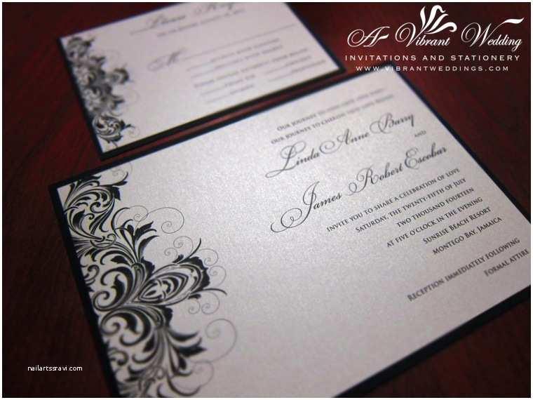 Black and Silver Wedding Invitations Silver Wedding Invitation – A Vibrant Wedding