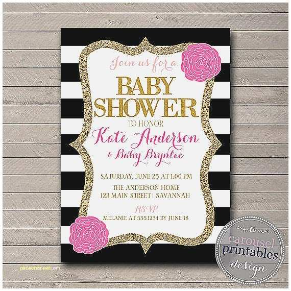 Black and White Baby Shower Invitations Baby Shower Invitation Best Red Black and White Baby