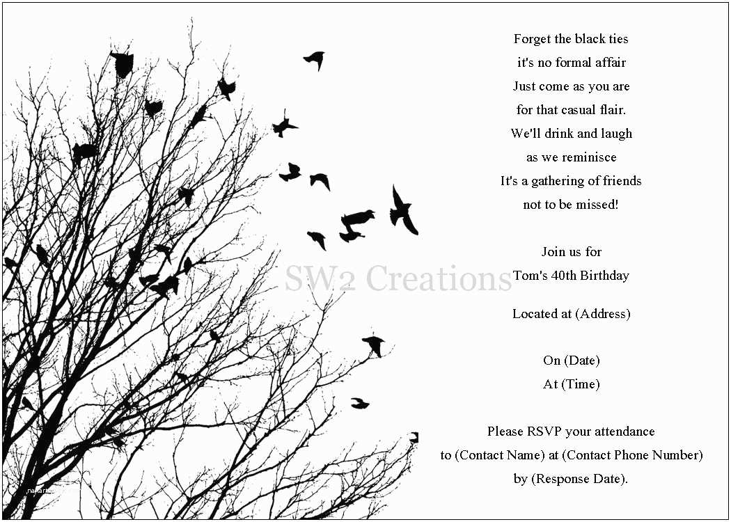 Black and White Birthday Invitations 8 Best Of Black and White Birthday Invitation