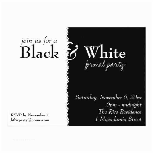 Black and White Birthday Invitations Black and White Party Invitations