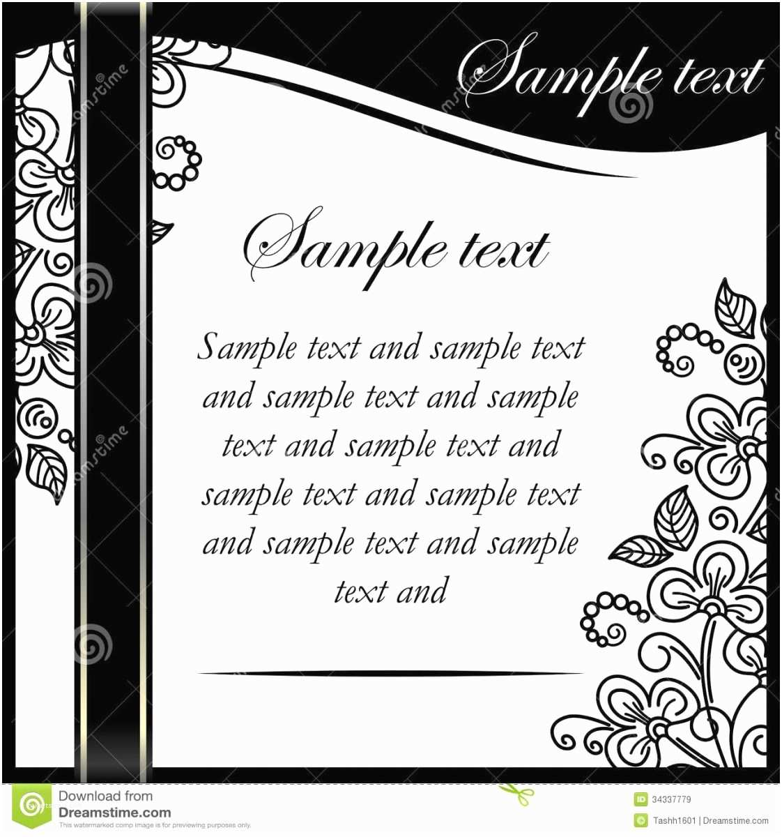 Black and White Birthday Invitations Black and White Party Invitations Templates