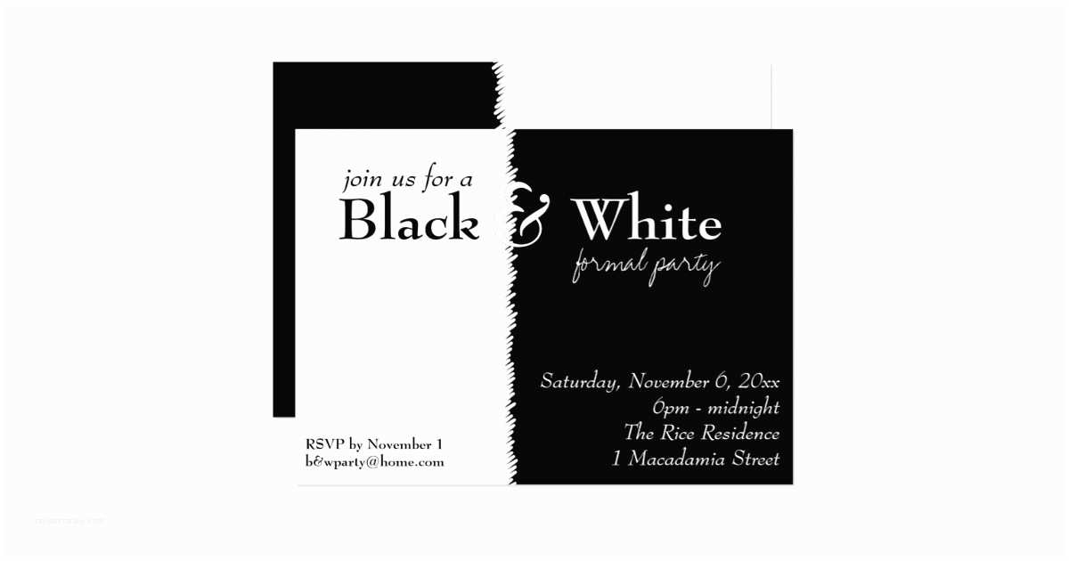 Black and White Party Invitations Black and White 2 theme Party Invitation