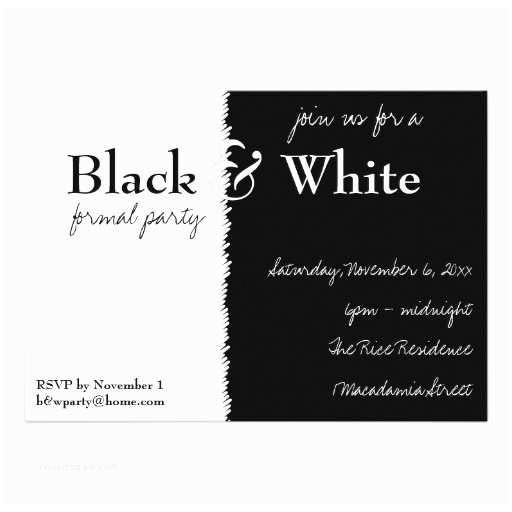 Black and White Party Invitations Black and White theme Party Invitation 13 Cm X 18 Cm