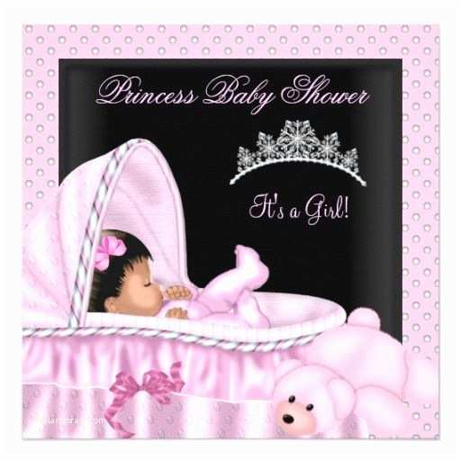 Black Baby Shower Invitations African American Little Princess Baby Shower Girl Invites