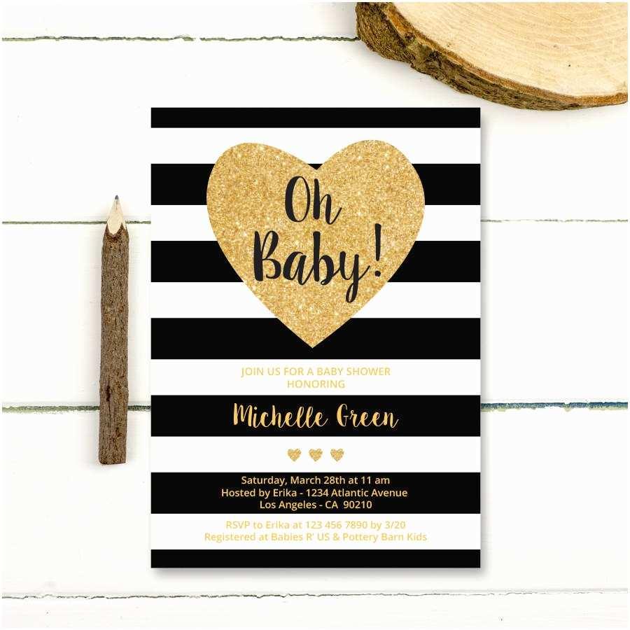 Black Baby Shower Invitations Black and White Baby Shower Invitations