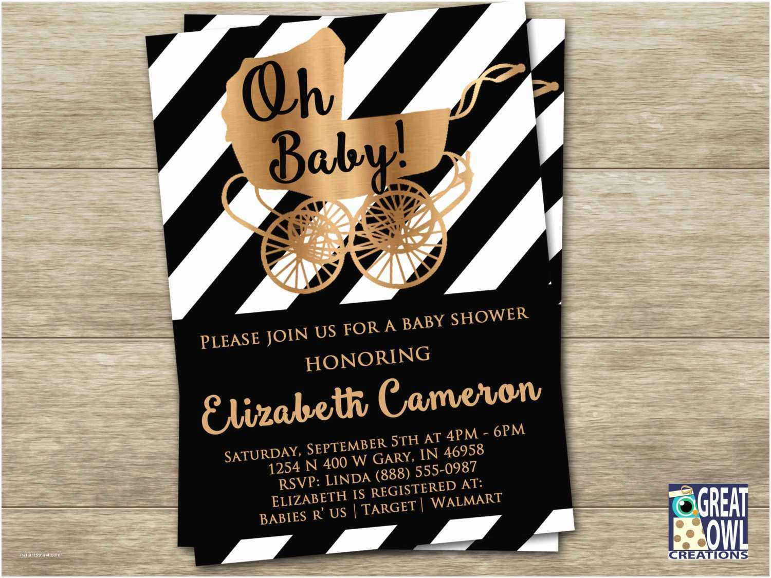 Black Baby Shower Invitations Chandeliers & Pendant Lights