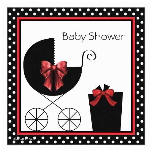 Black Baby Shower Invitations Custom Black White Baby Shower Invitations Invites