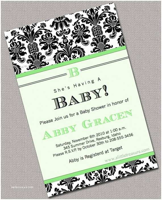 Black Baby Shower Invitations Neutral Baby Shower Invite Baby Shower Invitations