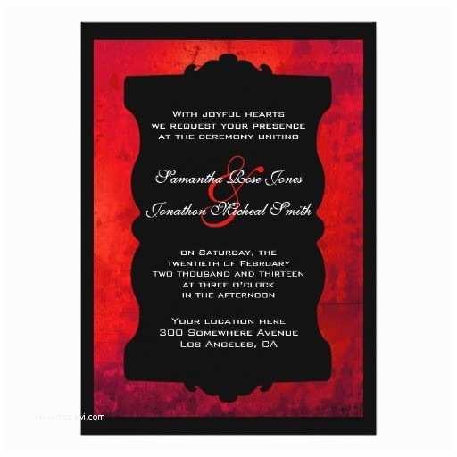 Black Red White Wedding Invitations Blank Red and Black Wedding Invitations Distressed Red