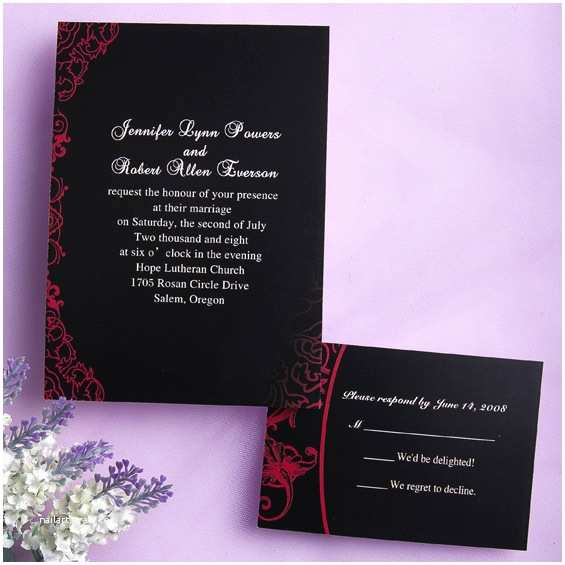 Black Red White Wedding Invitations Classic Black and Red Wedding Invitations Ewi034 as Low as