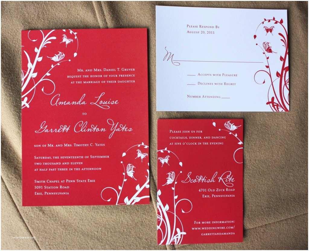 Black Red White Wedding Invitations Red Black and White Wedding Invitation Templates