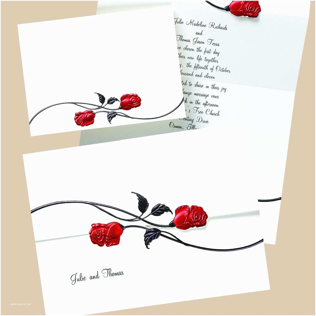 Black Red White Wedding Invitations Red Black and White Wedding Invitations Template