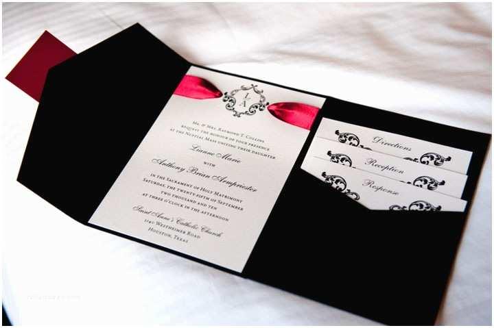 Black Red White Wedding Invitations Red White and Black Wedding Invitations
