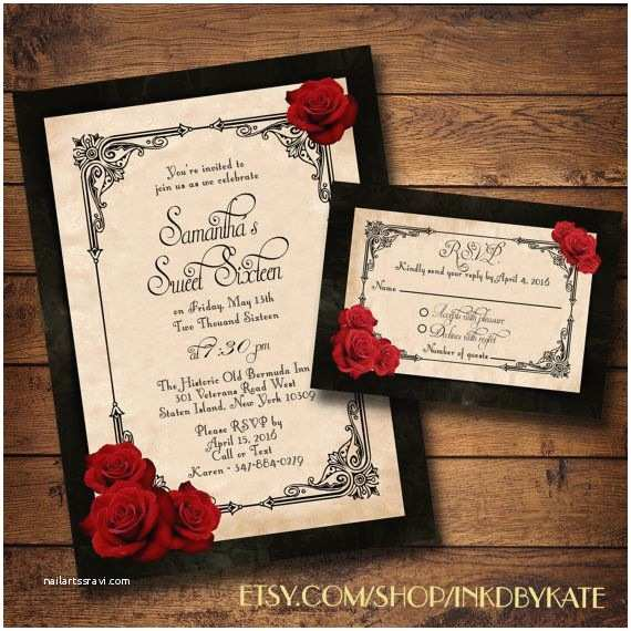 Black Red White Wedding Invitations Wedding Invitation Templates Black and Red Wedding