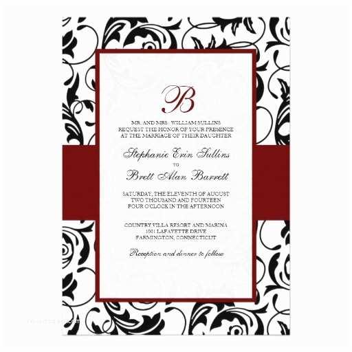 Black Red White Wedding Invitations Wedding Invitation Wording Black White and Red Wedding