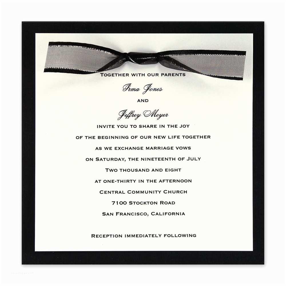 Black Tie Wedding Invitations Amazing Black Tie Wedding Invitations