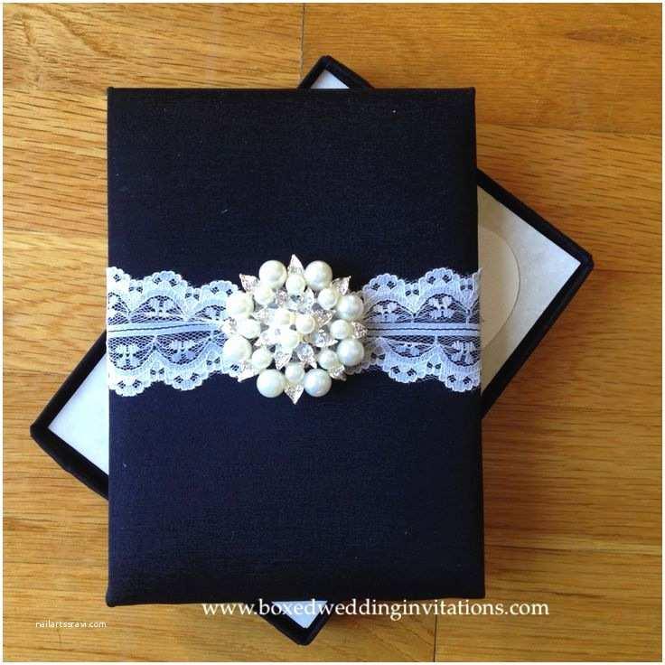Black Tie Wedding Invitations Black Tie Wedding Invitation Box with A Vintage Feel