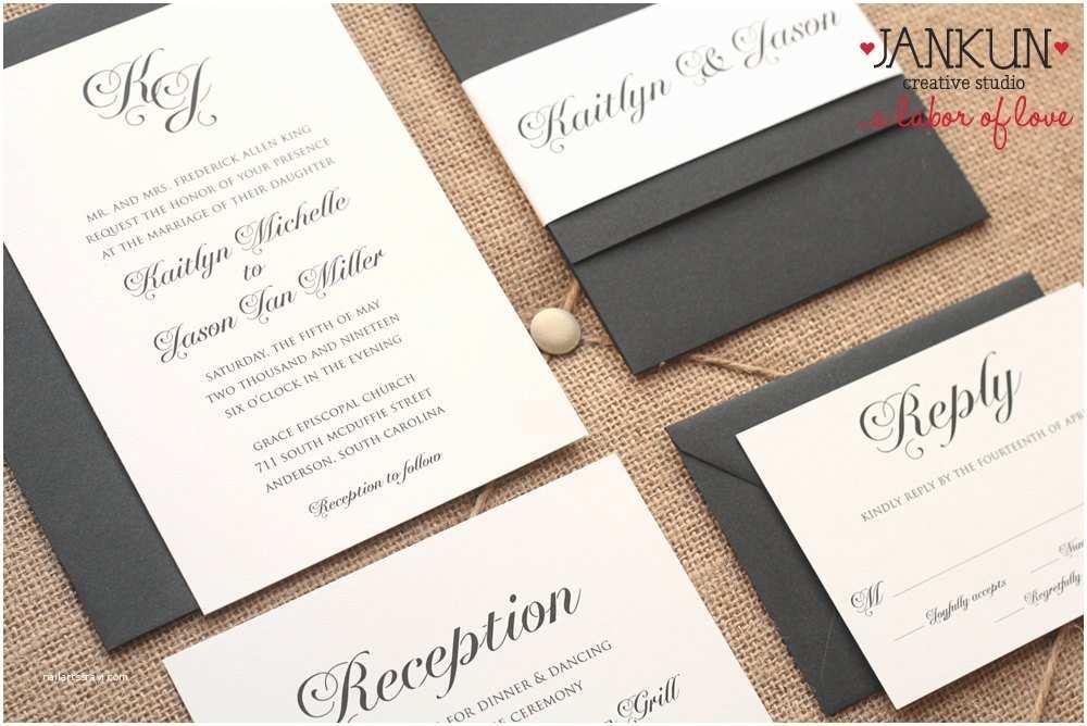 Black Tie Wedding Invitations Lighting