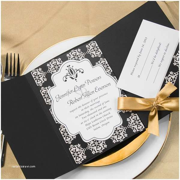 Black Wedding Invitation Kits Black Wedding Invitations Line at Elegant Wedding Invites