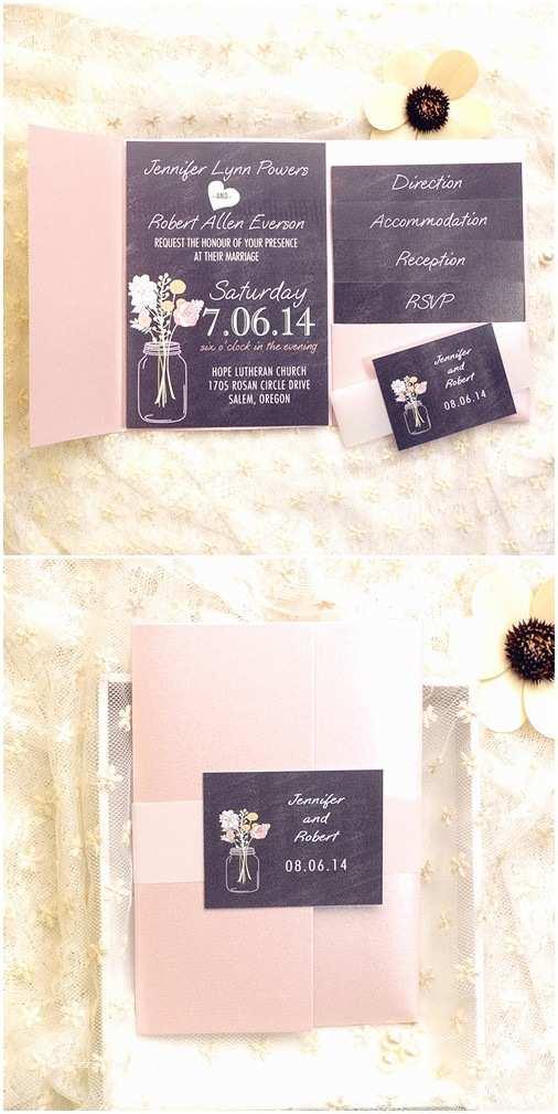 Black Wedding Invitation Kits top 10 Pocket Wedding Invitation Kits for Spring 2015