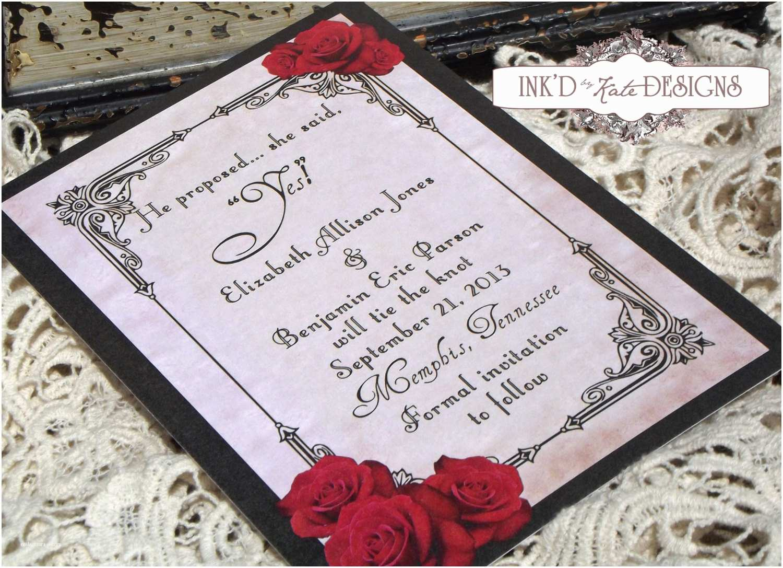 Black Wedding Invitations 10 Stirring Red Black and White Wedding Invitations with