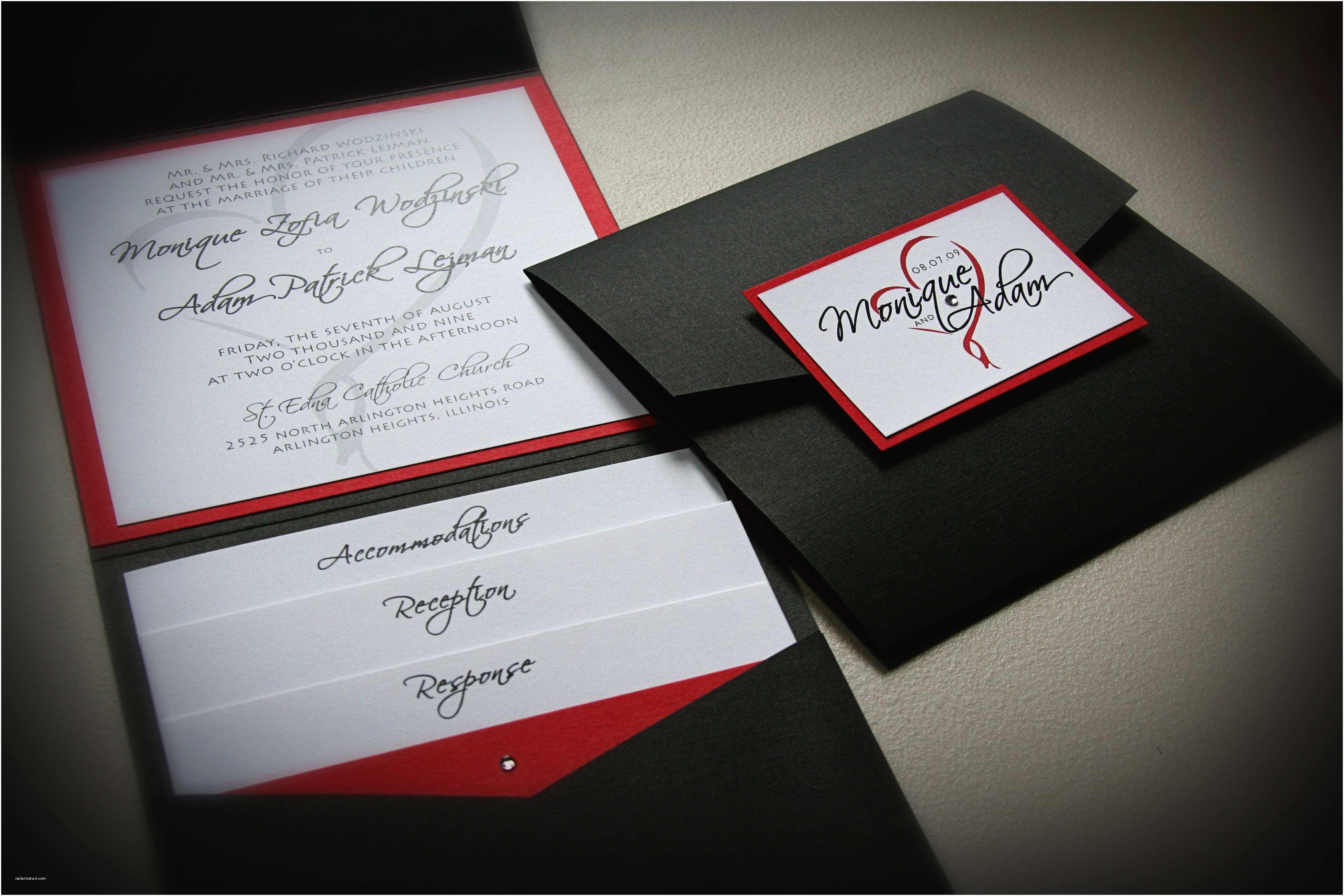 Black Wedding Invitations Best Album Red and Black Wedding Invitations